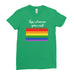 Kiss whoever you want LGBT Gay Pride Lesbian Rainbow Awesome Funny Cool - T-shirt - Womens - Ai Printing
