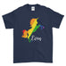 Personalised Name Unicorn Be Proud LGBT Gay Pride Rainbow Funny Cool - T-shirt - Mens - Ai Printing