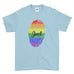 Personalised Name Be Proud LGBT Gay Pride Rainbow Awesome Funny Cool - T-shirt - Mens - Ai Printing