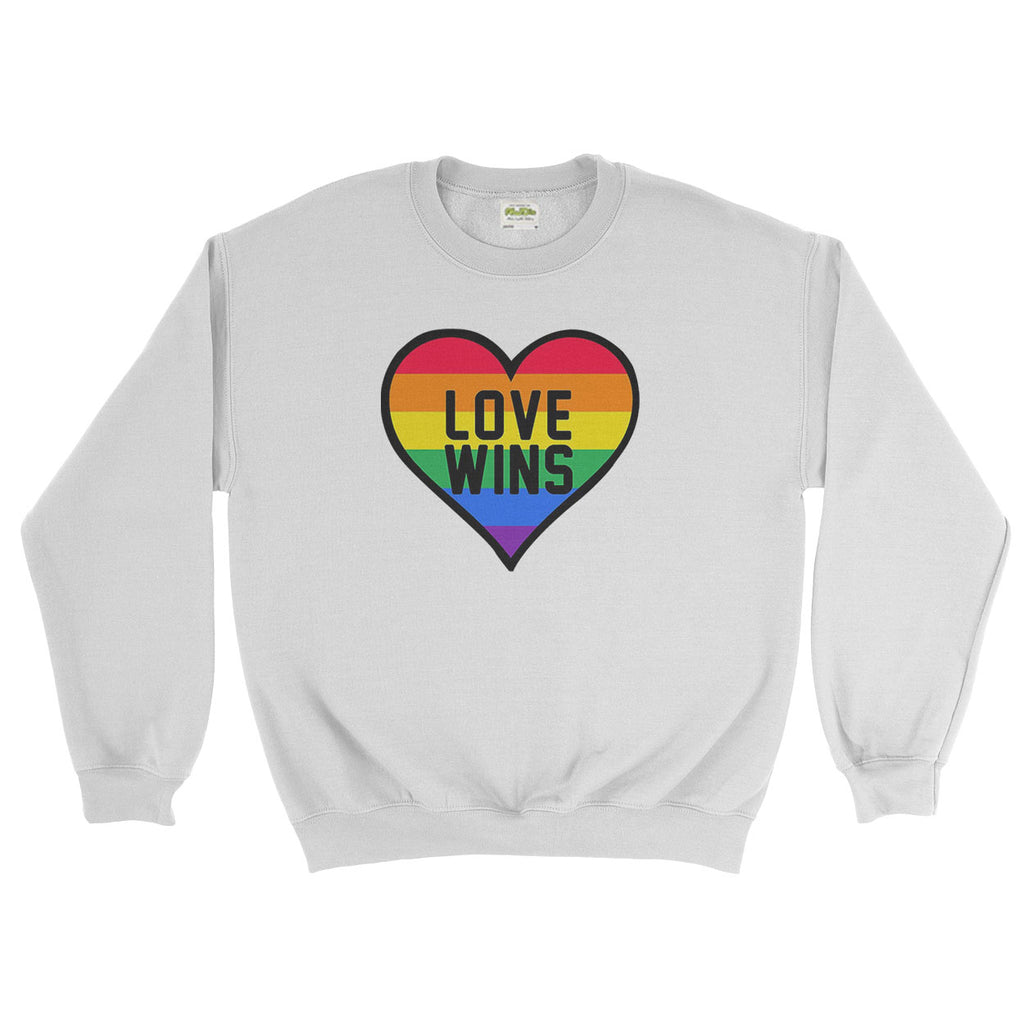 Love wins LGBT Gay Lesbian Pride Rainbow  - Sweater - Mens - Ai Printing