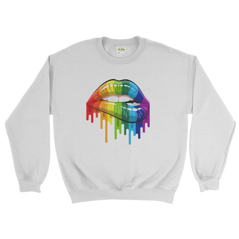 Rainbow lips T shirt LGBT Gay Pride Lesbian Rainbow - Sweater - Mens