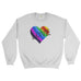 Love wins LGBT Gay Lesbian Heart Pride Rainbow - Sweater - Mens - Ai Printing