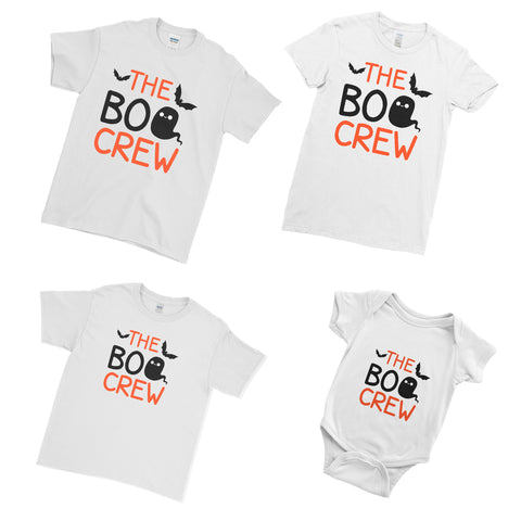 The Boo Crew T Shirts Funny Halloween Group Halloween Family Matching Set T-Shirts for Men Women Kids Baby | Ai Printing