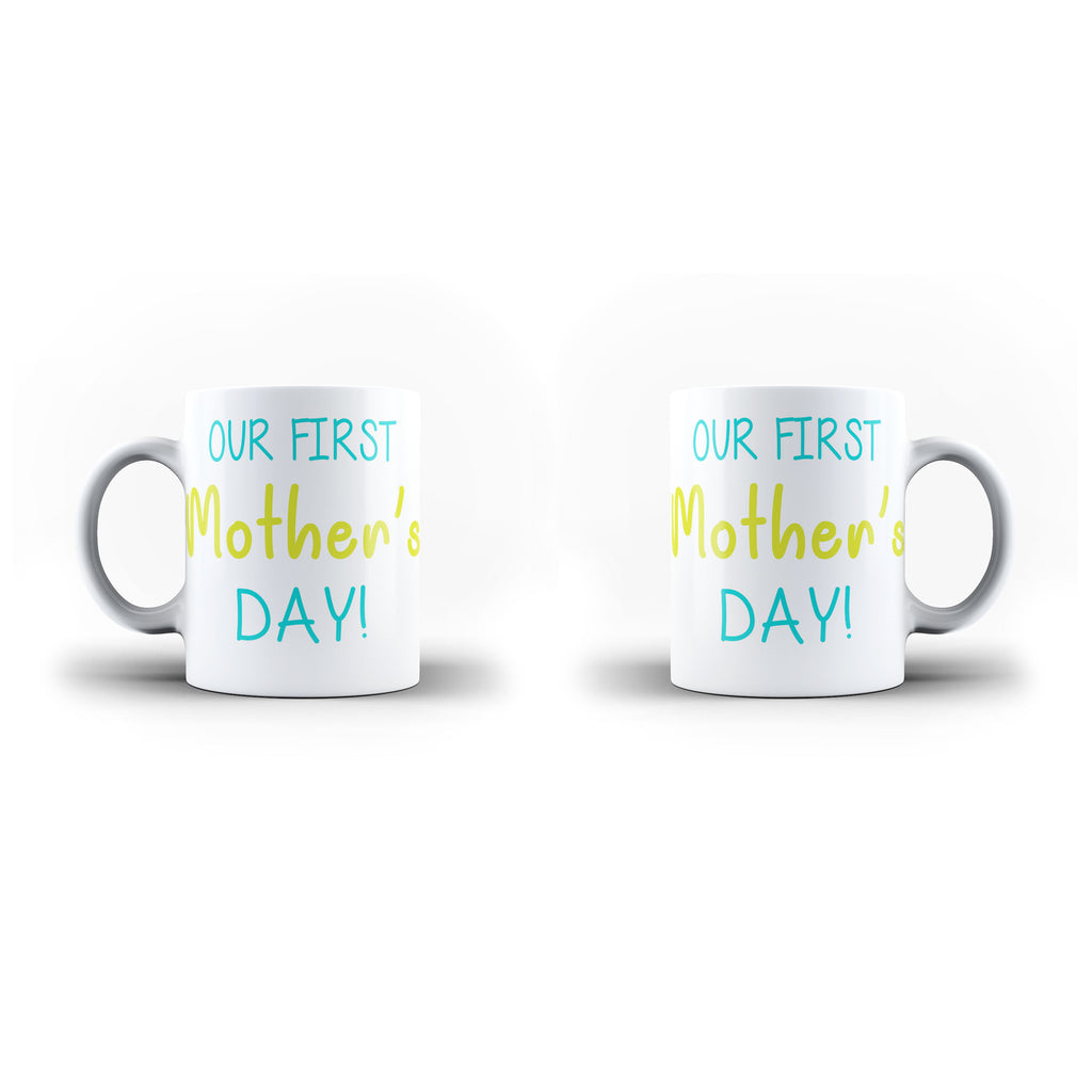 Worlds Greatest Our First Mothers Day Mom Mothers Day gift - Unique Mug - White Set - Ai Printing