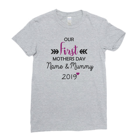 Worlds Greatest Our First Mothers Day Mom Mothers Day gift T-shirt Top Tee - Ai Printing