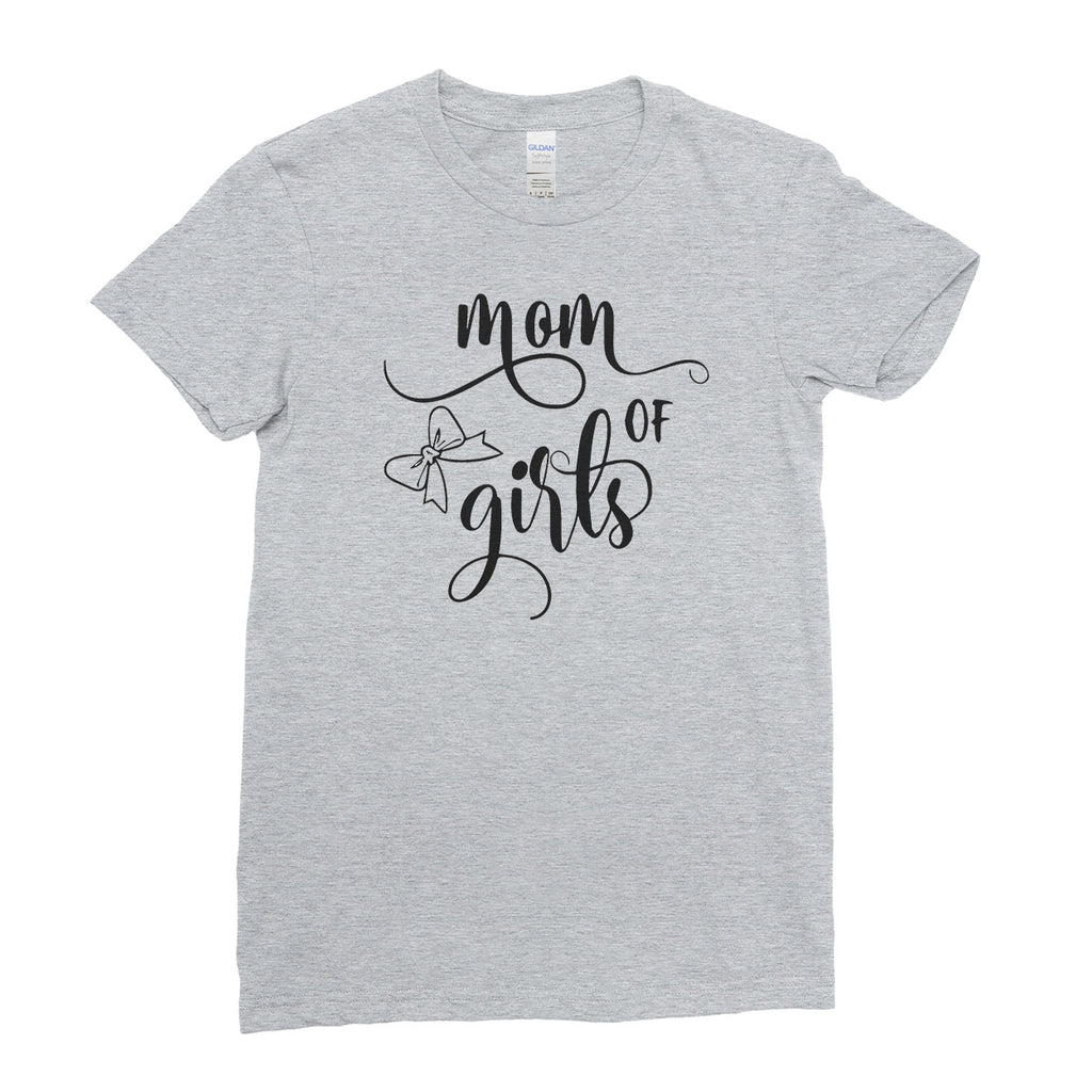 3ac548376 ... Mom of Girls Mother's Day Best Awesome Funny Gift - Unique Mug T-shirt  Top ...