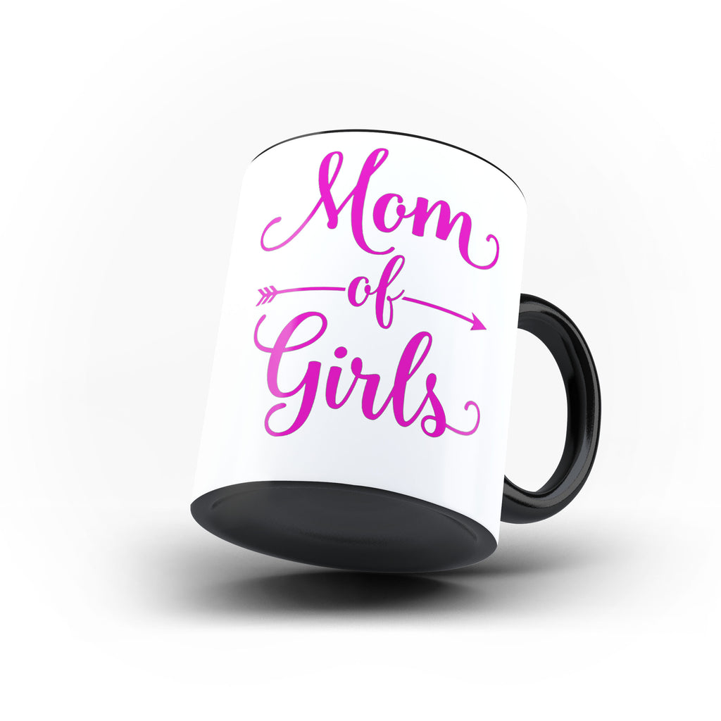 World Mom of Girls Mother's Day Best Awesome Funny Gift- Unique Mug - Magic Set - Ai Printing