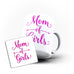 World Mom of Girls Mother's Day Best Awesome Funny Gift- Unique Mug - White Set - Ai Printing