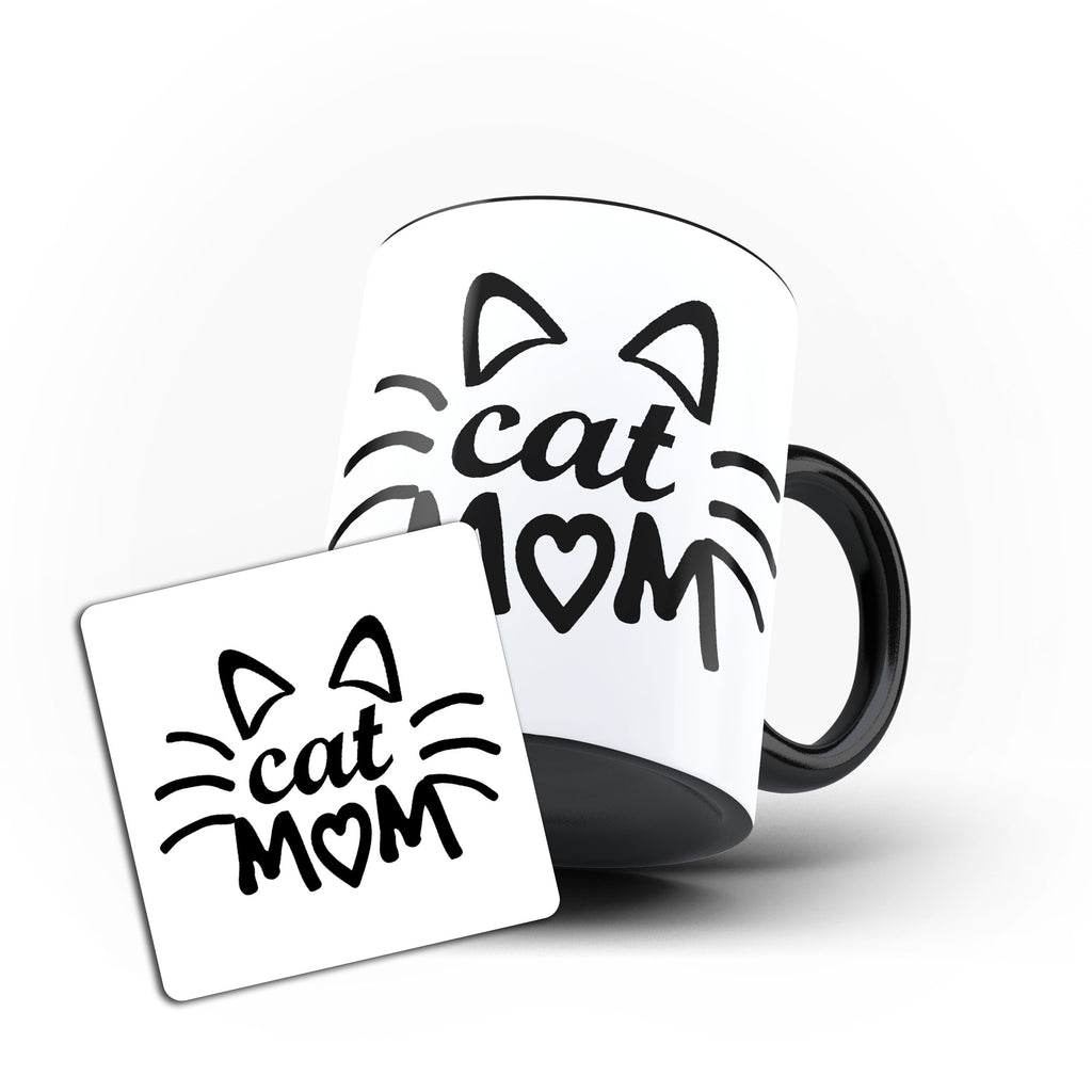 Mom Cat Mother's Day Mommy Best Awesome Funny Cool Gift - Unique Mug - Magic Set - Ai Printing