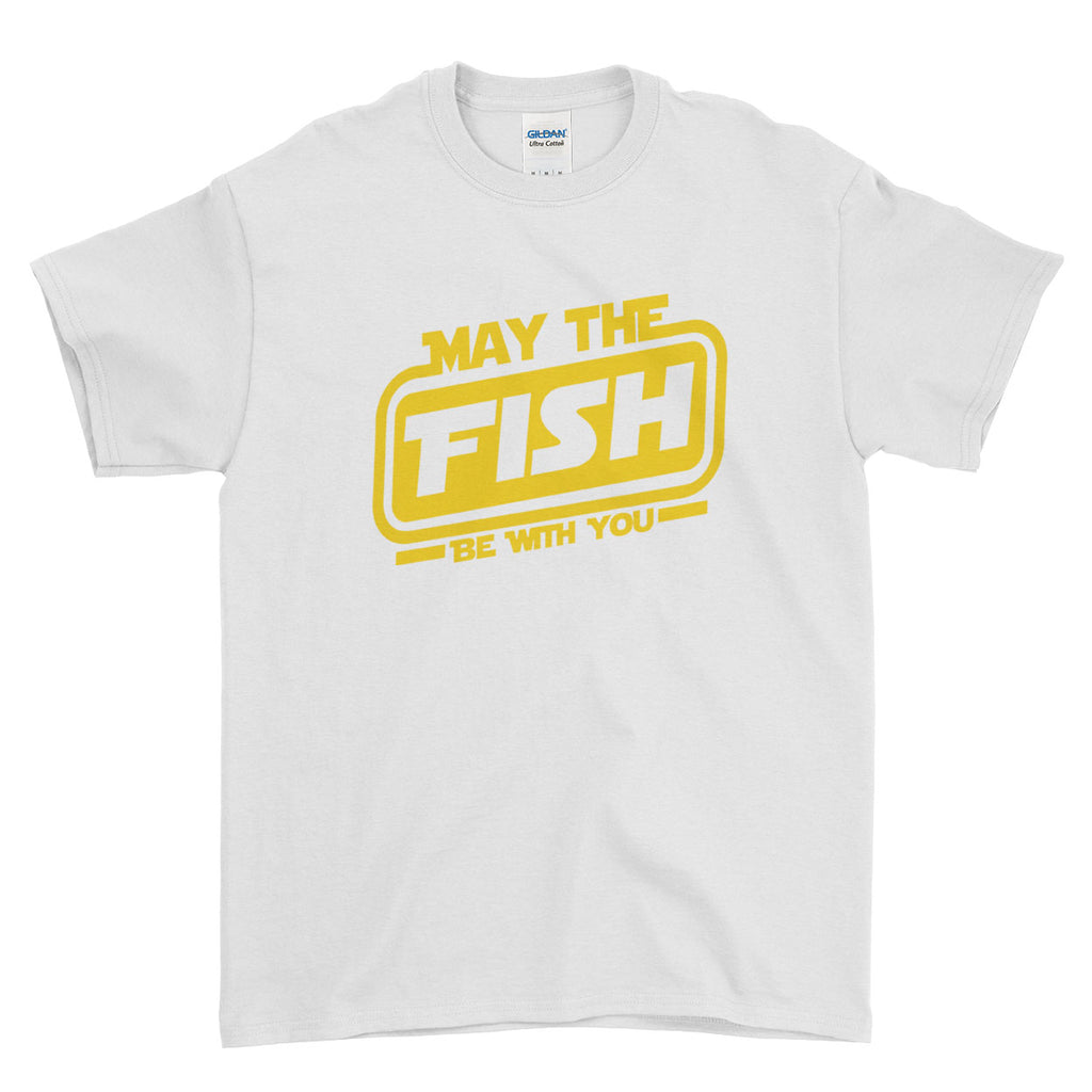 May The Fish Be With You Pattern Inspired Fishing Carp  - T-shirt - Mens - Ai Printing