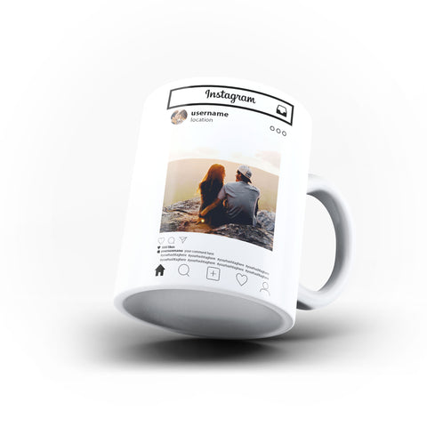 For Insta Lovers - Personalised Mug - White - Ai Printing