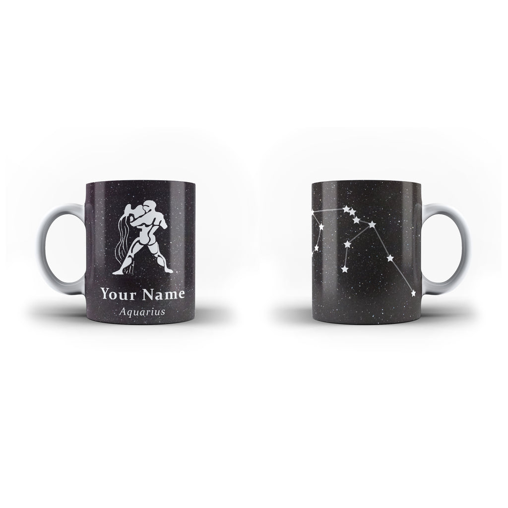 Zodiac Aquarius - Personalised Mug - White - Ai Printing