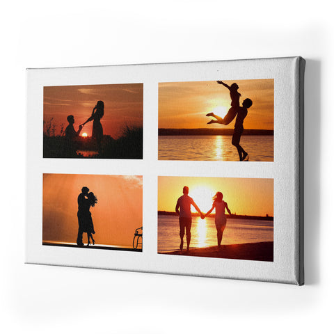 Collage Style Personalised Valentines Single Panel Canvas - Landscape - Ai Printing