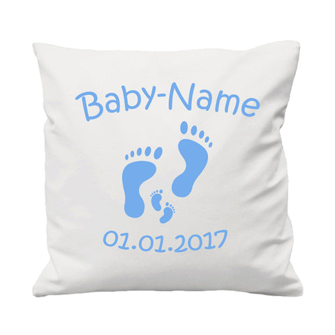 Baby Footprints - Cushion Cover - 41 x 41 cm - Ai Printing