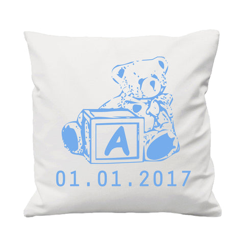 Baby Teddy Bear Building Blocks - Cushion Cover - 41 x 41 cm - Ai Printing