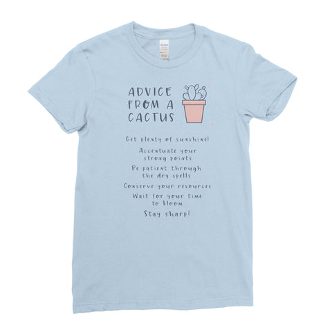 Advice From A Cactus - T-shirt - Womens - Ai Printing