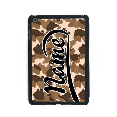Brown Camouflage Print - iPad Smart Case - Ai Printing