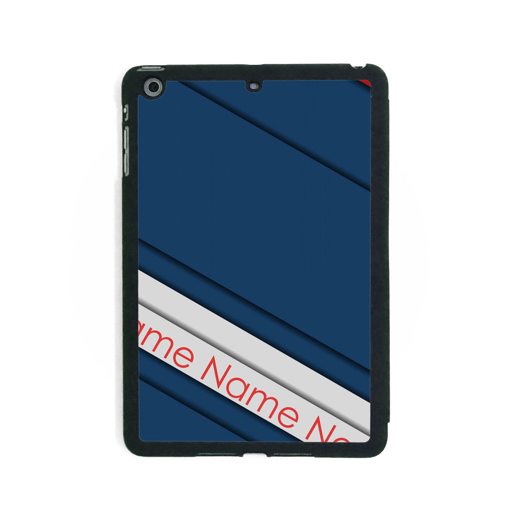 Navy Red Stripes - iPad Smart Case - Ai Printing