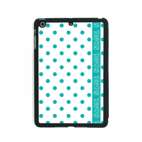 Retro White & Green Polkadots - iPad Smart Case - Ai Printing