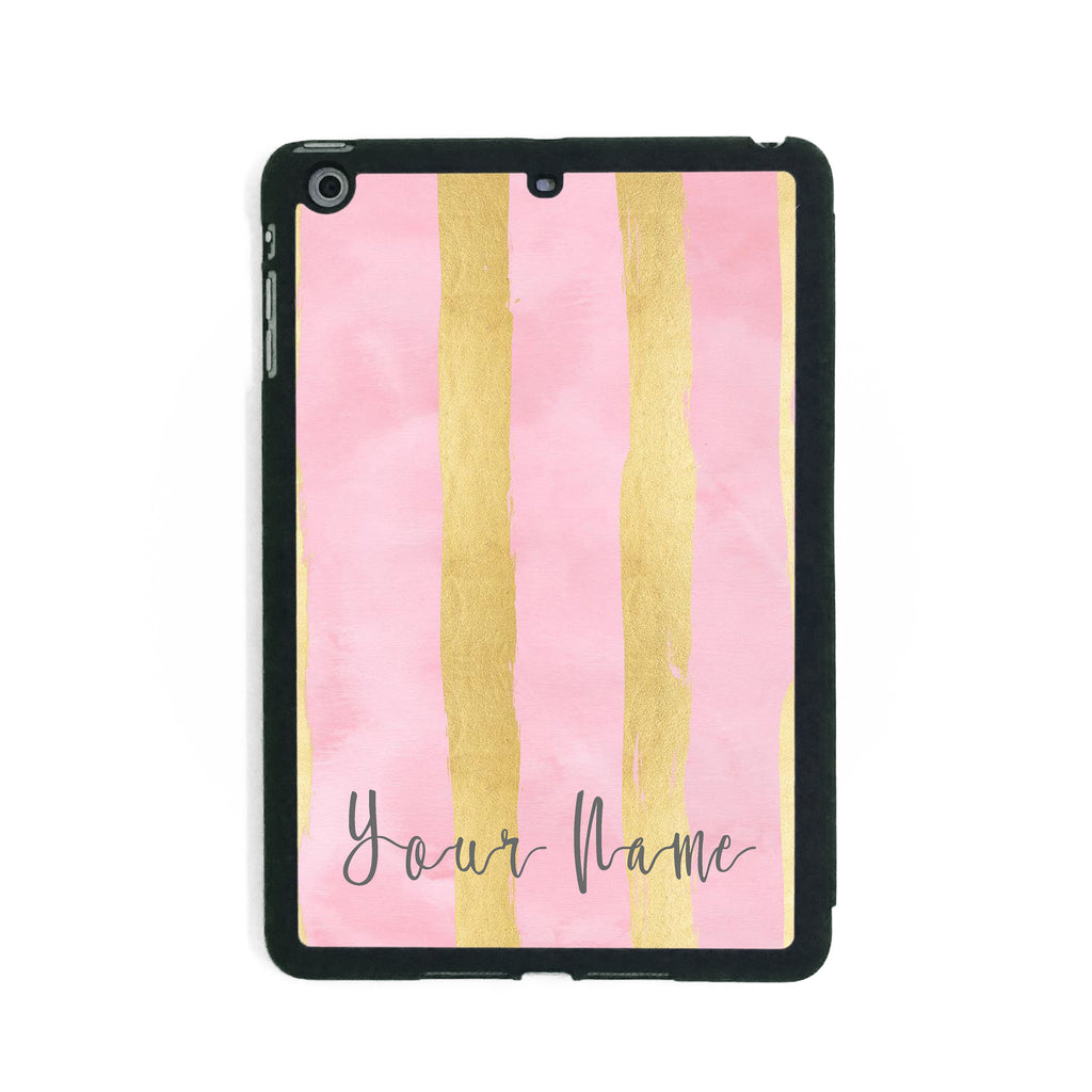Pink Gold Stripes - iPad Smart Case - Ai Printing