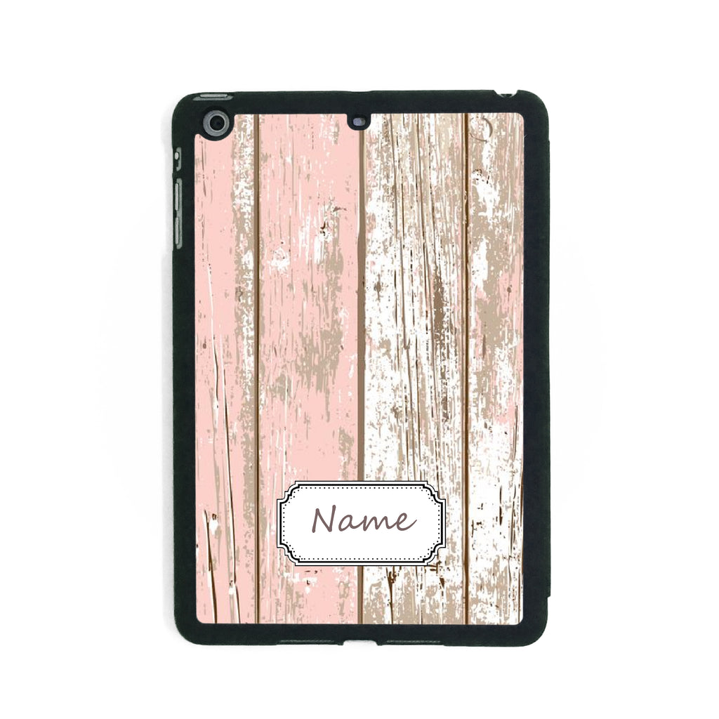 Pink Wood Effect Shabby Chic - iPad Smart Case - Ai Printing