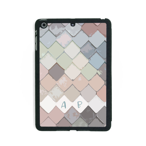 Pastel Fish Scales - iPad Smart Case - Ai Printing
