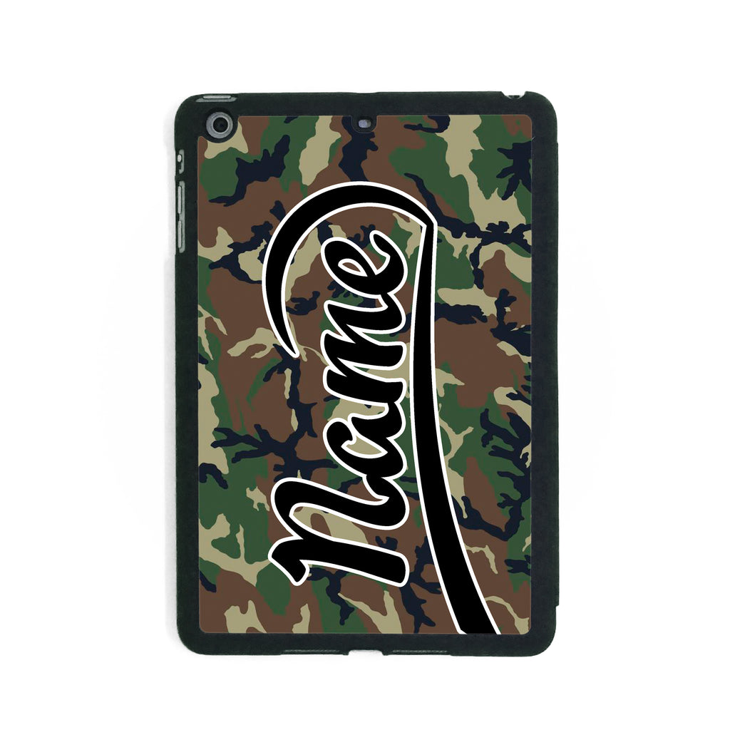Brown & Green Camouflage Print - iPad Smart Case - Ai Printing