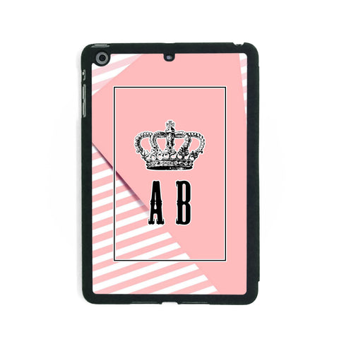 Stripey Pink Crown - iPad Smart Case - Ai Printing