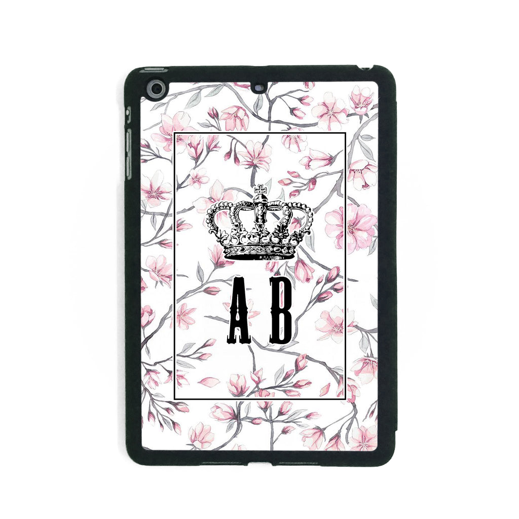 White Pink Flower Crown - iPad Smart Case - Ai Printing