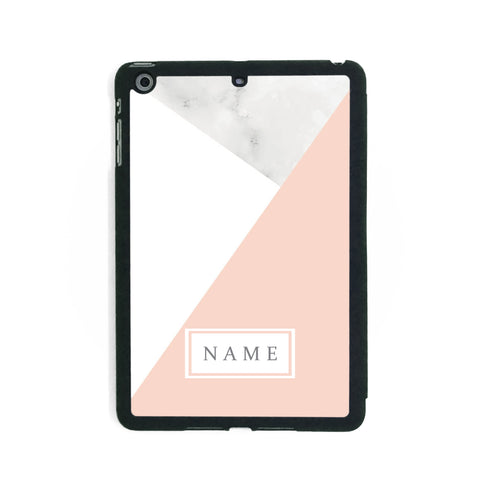 White & Pink Marble - iPad Smart Case - Ai Printing