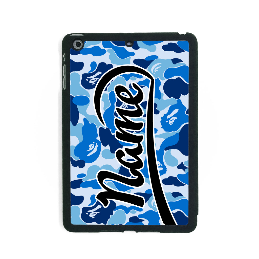 Blue Camouflage Print - iPad Smart Case - Ai Printing