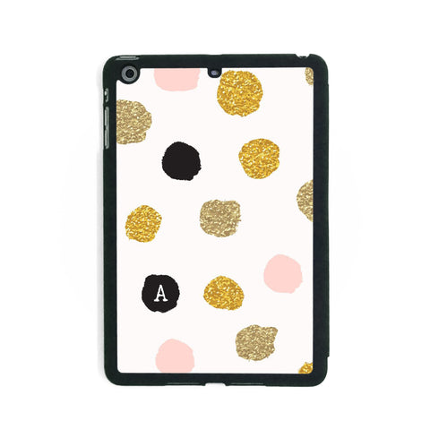 Pink Gold Polkadots - iPad Smart Case - Ai Printing