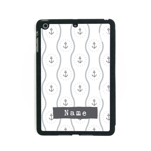 Wavy Anchor Pattern - iPad Smart Case - Ai Printing