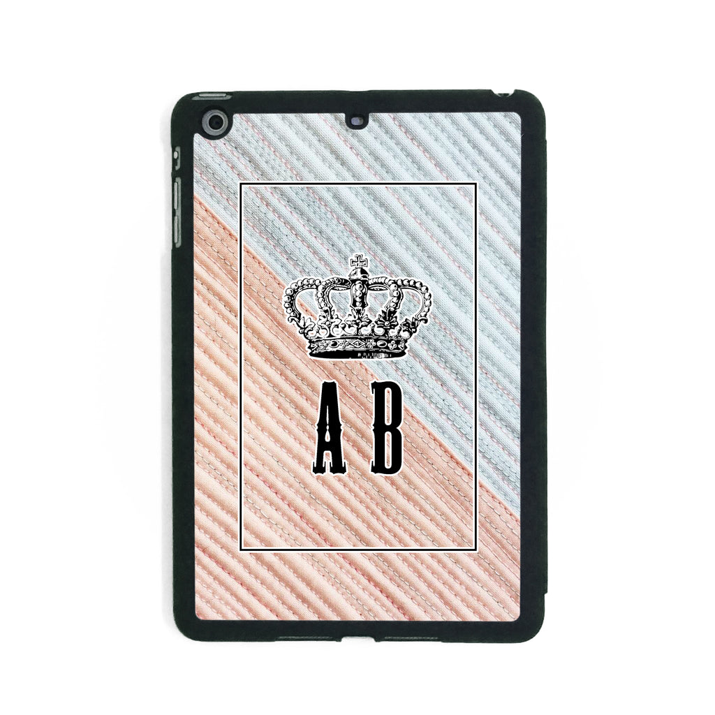Blue Pink Stitches Crown - iPad Smart Case - Ai Printing