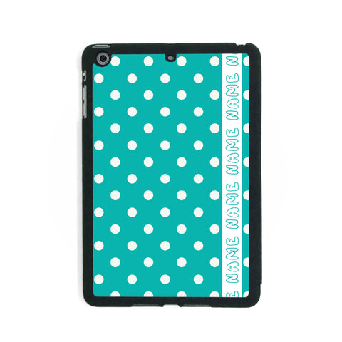 Retro Green & White Polkadots - iPad Smart Case - Ai Printing