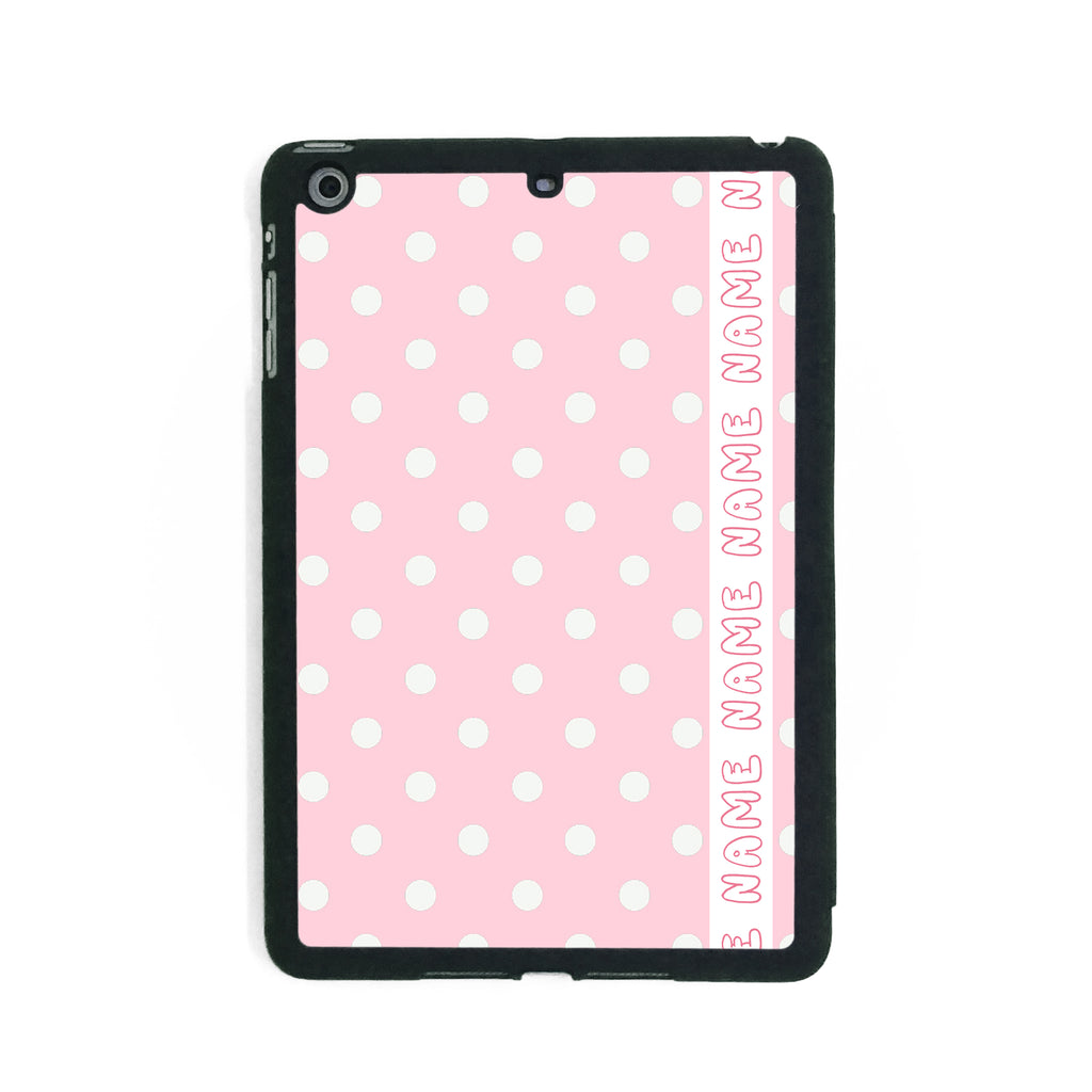 Retro Pink & White Polkadots - iPad Smart Case - Ai Printing