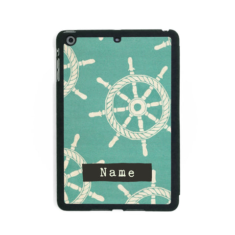 Teal Nautical Pattern - iPad Smart Case - Ai Printing