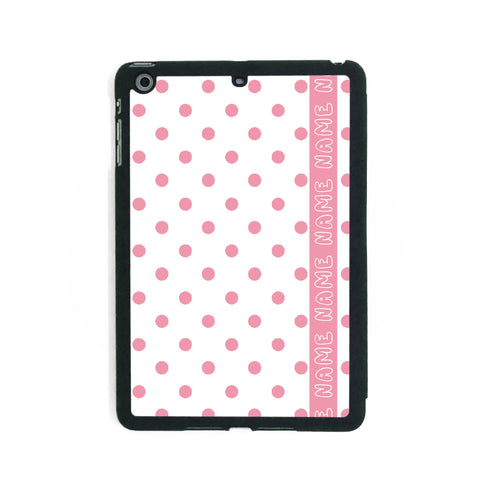 Retro White & Pink Polkadots - iPad Smart Case - Ai Printing