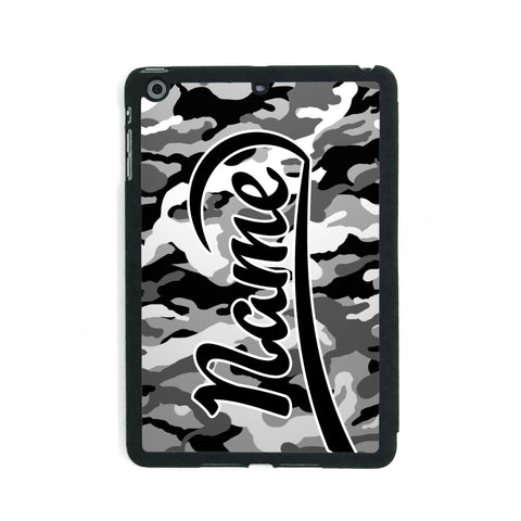 Grey Camouflage Print - iPad Smart Case - Ai Printing