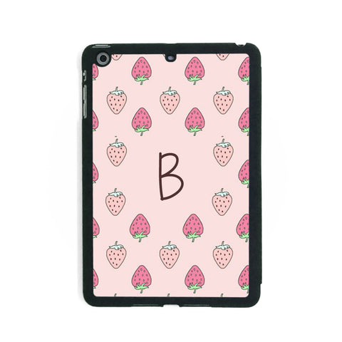 Pink Strawberry Pattern - iPad Smart Case - Ai Printing