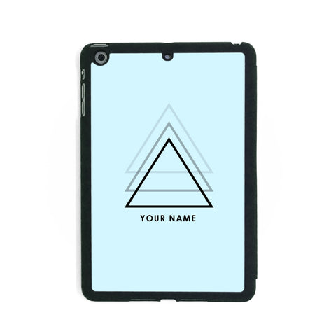 Light Blue Triangles - iPad Smart Case - Ai Printing