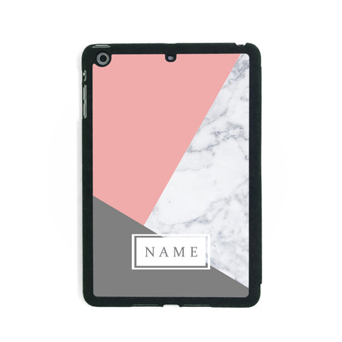 Pink & Grey Marble - iPad Smart Case - Ai Printing