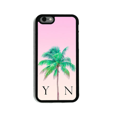 Pink Sky & Green Palm Tree - 2D Clip Case - Ai Printing