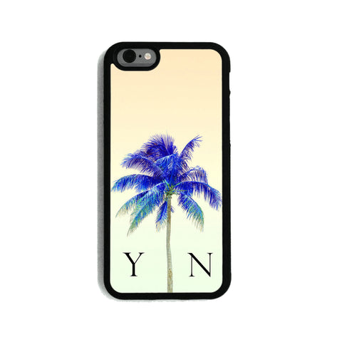Yellow Sky & Blue Palm Tree - 2D Clip Case - Ai Printing