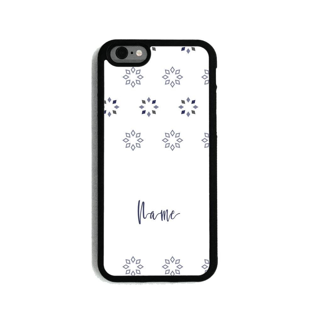Purple Diamond Snowflakes - 2D Clip Case - Ai Printing