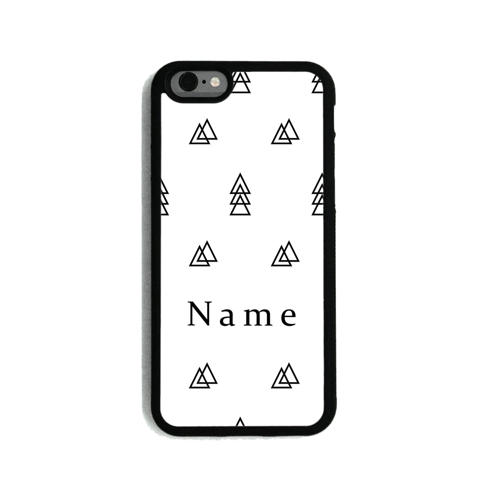 Black & White Overlapping Triangles   - 2D Clip Case - Ai Printing