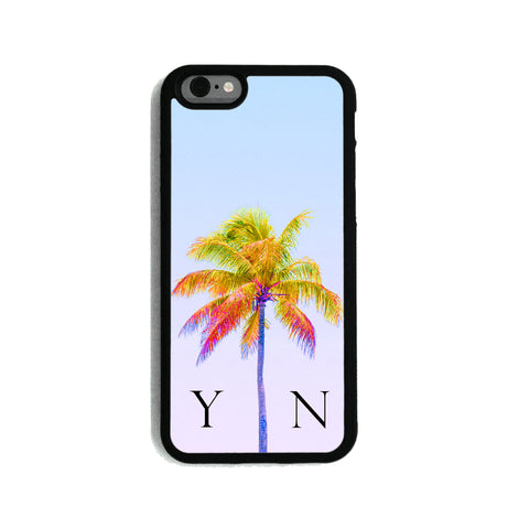Light Blue Sky & Yellow Palm Tree - 2D Clip Case - Ai Printing