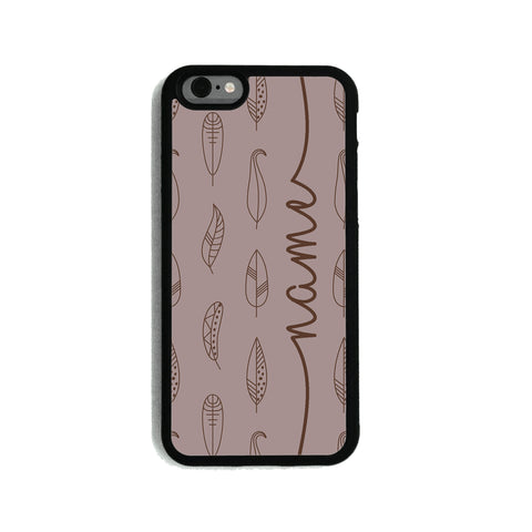 Taupe Feathers - 2D Clip Case - Ai Printing
