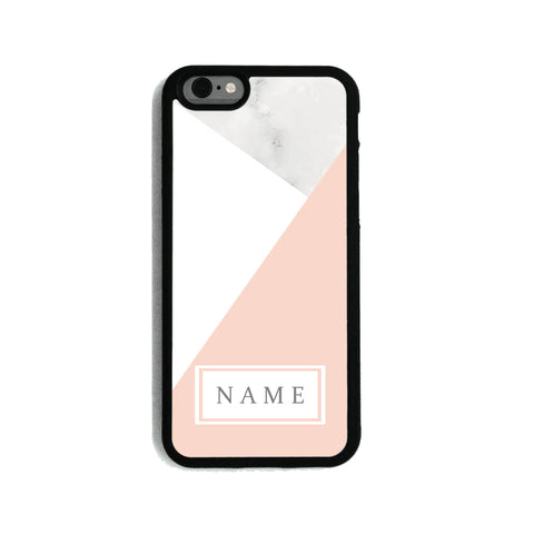 White & Pink Marble - 2D Clip Case - Ai Printing