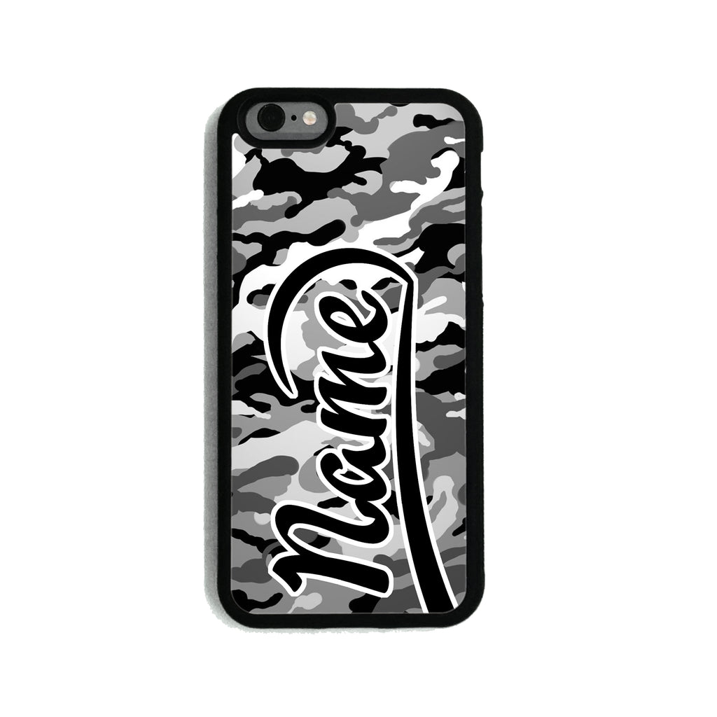 Grey Camouflage Print - 2D Clip Case - Ai Printing